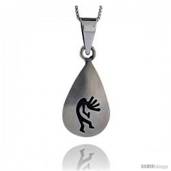 Sterling Silver kokopelli Pendant, 1 1/8 in tall -Style Pxj414