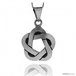 Sterling Silver Celtic Pendant, 1 1/4 in tall