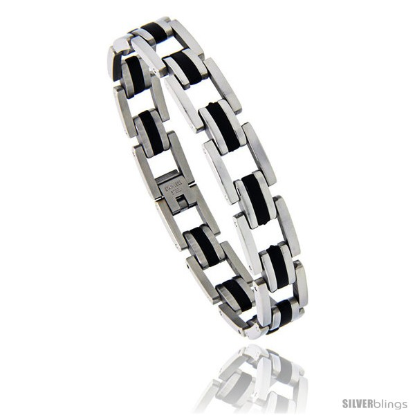 https://www.silverblings.com/868-thickbox_default/stainless-steel-black-rubber-pantera-style-bracelet-1-2-in-wide-8-5-in-long.jpg