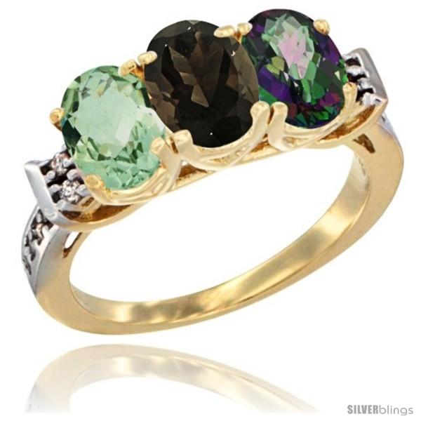 https://www.silverblings.com/86862-thickbox_default/10k-yellow-gold-natural-green-amethyst-smoky-topaz-mystic-topaz-ring-3-stone-oval-7x5-mm-diamond-accent.jpg