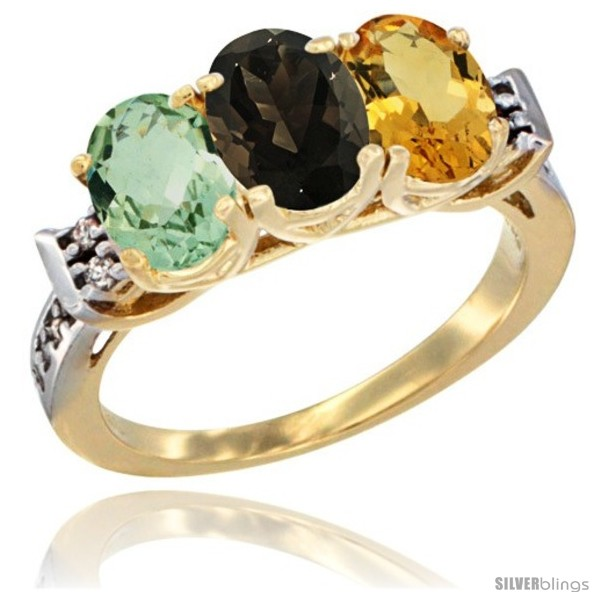 https://www.silverblings.com/86864-thickbox_default/10k-yellow-gold-natural-green-amethyst-smoky-topaz-citrine-ring-3-stone-oval-7x5-mm-diamond-accent.jpg