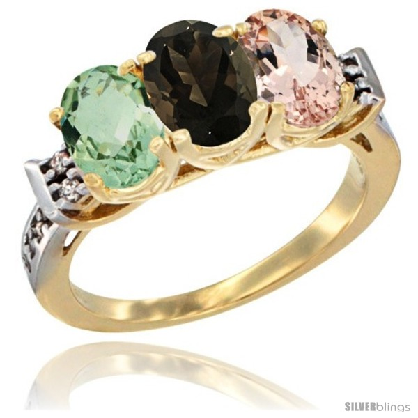 https://www.silverblings.com/86872-thickbox_default/10k-yellow-gold-natural-green-amethyst-smoky-topaz-morganite-ring-3-stone-oval-7x5-mm-diamond-accent.jpg
