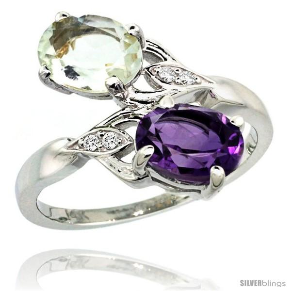 https://www.silverblings.com/86886-thickbox_default/14k-white-gold-8x6-mm-double-stone-engagement-purple-green-amethyst-ring-w-0-04-carat-brilliant-cut-diamonds-2-34.jpg