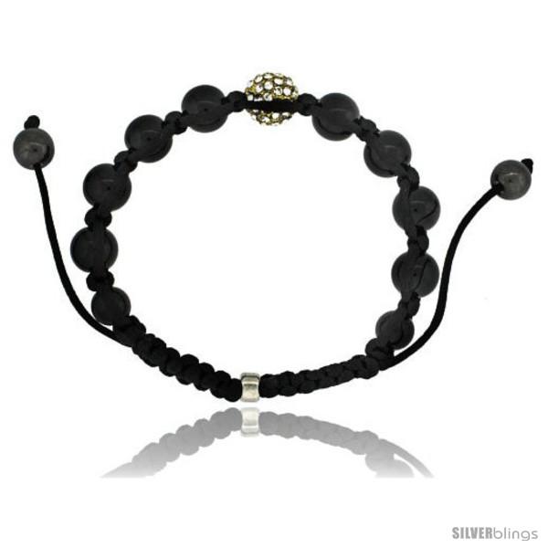 https://www.silverblings.com/87256-thickbox_default/yellow-color-crystal-disco-ball-adjustable-unisex-macrame-bead-bracelet-w-hematite-beads-3-8-in-10-mm-wide-style-cbb239.jpg