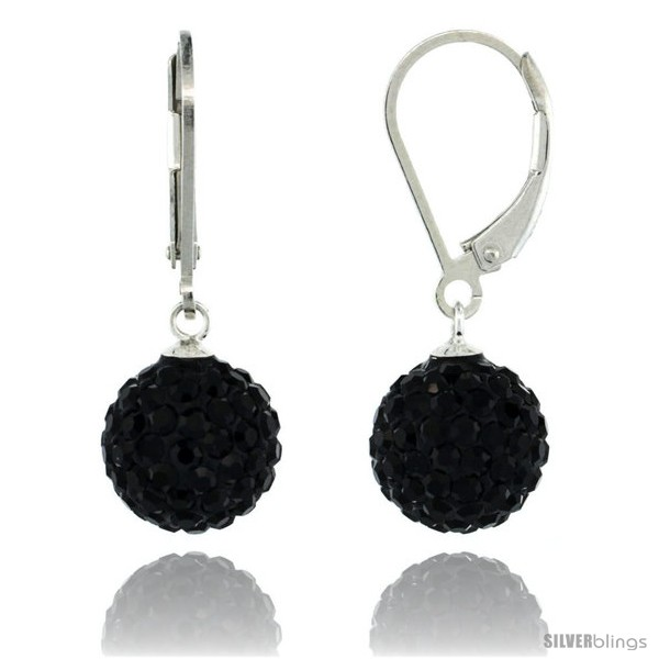 https://www.silverblings.com/87492-thickbox_default/sterling-silver-10mm-round-black-disco-crystal-ball-lever-back-earrings-1-1-8-in-28-mm-tall.jpg