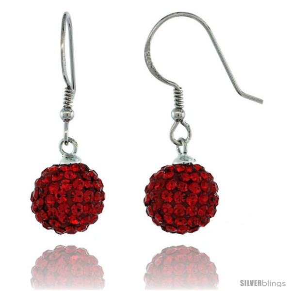 https://www.silverblings.com/87496-thickbox_default/sterling-silver-10mm-round-red-disco-crystal-ball-fish-hook-earrings-1-1-4-in-31-mm-tall.jpg