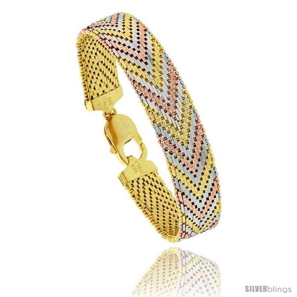 https://www.silverblings.com/87690-thickbox_default/sterling-silver-italian-tri-color-riccio-bracelet-15-row-1-2-in-wide.jpg