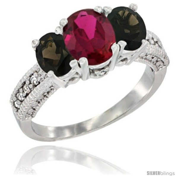 https://www.silverblings.com/87839-thickbox_default/10k-white-gold-ladies-oval-natural-ruby-3-stone-ring-smoky-topaz-sides-diamond-accent.jpg