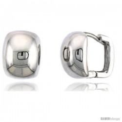 "Sterling Silver Huggie Earrings, 1/2"" (13 mm)"