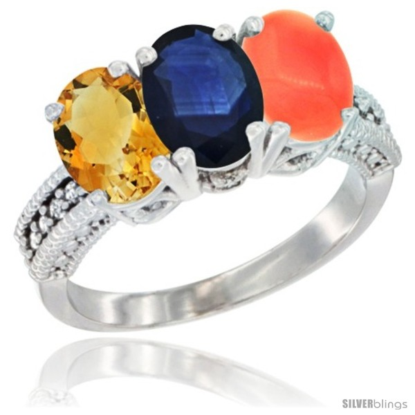 https://www.silverblings.com/88342-thickbox_default/14k-white-gold-natural-citrine-blue-sapphire-coral-ring-3-stone-7x5-mm-oval-diamond-accent.jpg