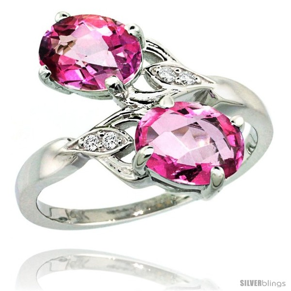https://www.silverblings.com/88649-thickbox_default/14k-white-gold-8x6-mm-double-stone-engagement-pink-topaz-ring-w-0-04-carat-brilliant-cut-diamonds-2-34-carats-oval-cut.jpg