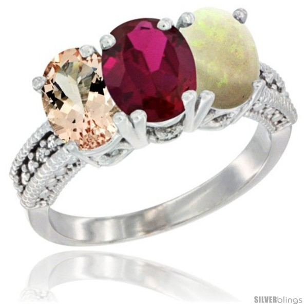 https://www.silverblings.com/88710-thickbox_default/10k-white-gold-natural-morganite-ruby-opal-ring-3-stone-oval-7x5-mm-diamond-accent.jpg