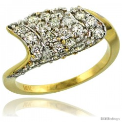 14k Gold Diamond Engagement Ring w/ 1.32 Carats Brilliant Cut (H-I Color SI1 Clarity) Diamonds, 5/16 in. (8.5mm) wide