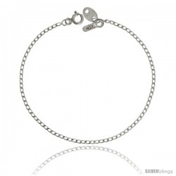 Sterling Silver LONG CURB CHAIN Necklaces & Bracelets 1.5mm Nickel Free
