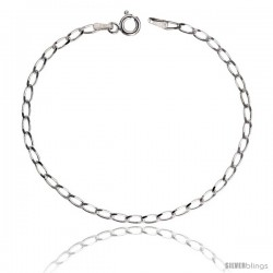 Sterling Silver LONG CURB CHAIN Necklaces & Bracelets 2.5mm Nickel Free