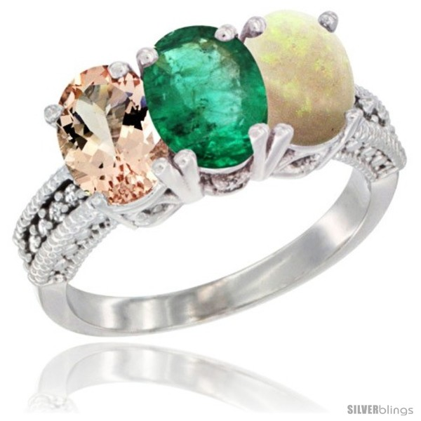 https://www.silverblings.com/89053-thickbox_default/10k-white-gold-natural-morganite-emerald-opal-ring-3-stone-oval-7x5-mm-diamond-accent.jpg