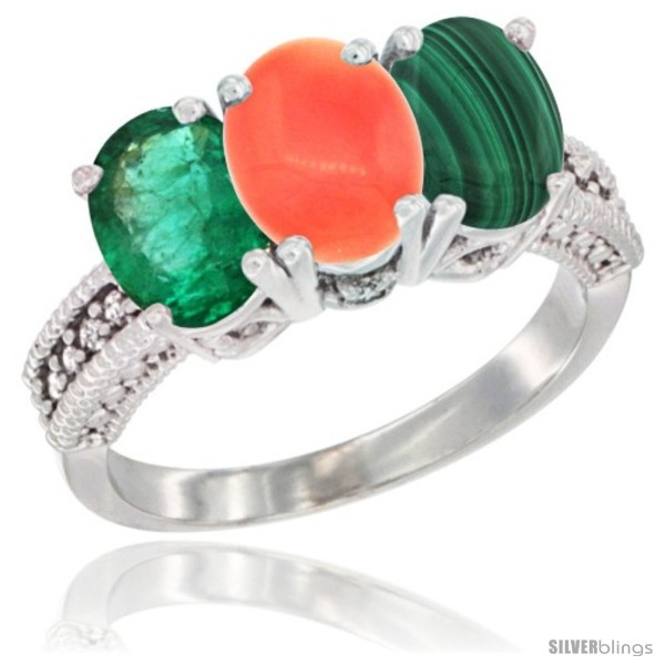 https://www.silverblings.com/8929-thickbox_default/10k-white-gold-natural-emerald-coral-malachite-ring-3-stone-oval-7x5-mm-diamond-accent.jpg