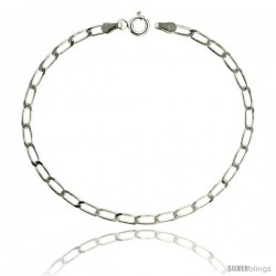 Sterling Silver LONG CURB CHAIN Necklaces & Bracelets 3mm Nickel Free