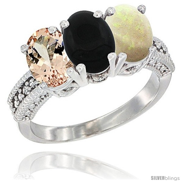 https://www.silverblings.com/89715-thickbox_default/10k-white-gold-natural-morganite-black-onyx-opal-ring-3-stone-oval-7x5-mm-diamond-accent.jpg