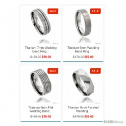 FREE High Quality Titanium Rings Comfort-fit Holiday Promotion
