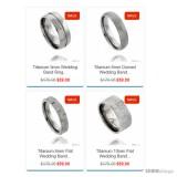 Titanium Band Ring Comfort-fit