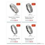 Titanium Band Ring Comfort-fit