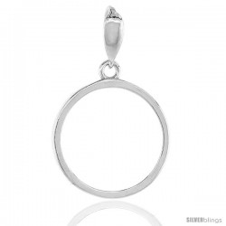 Sterling Silver Penny Bezel 19 mm Coins Prong Back Round Edge 1 Cent Coin NOT Included