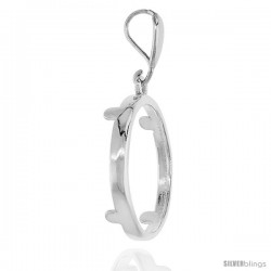 Sterling Silver 21 mm Nickel (5 Cents) Screw Top Coin Bezel Frame Pendant (Coin is NOT Included)