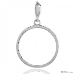 Sterling Silver Nickel Bezel 21 mm Coins Prong Back Round Edge 5 Cent Coin