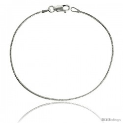 Sterling Silver Italian Snake Chain Necklaces & Bracelets Sparkle Diamond Cut Finish, fine 1mm Nickel Free