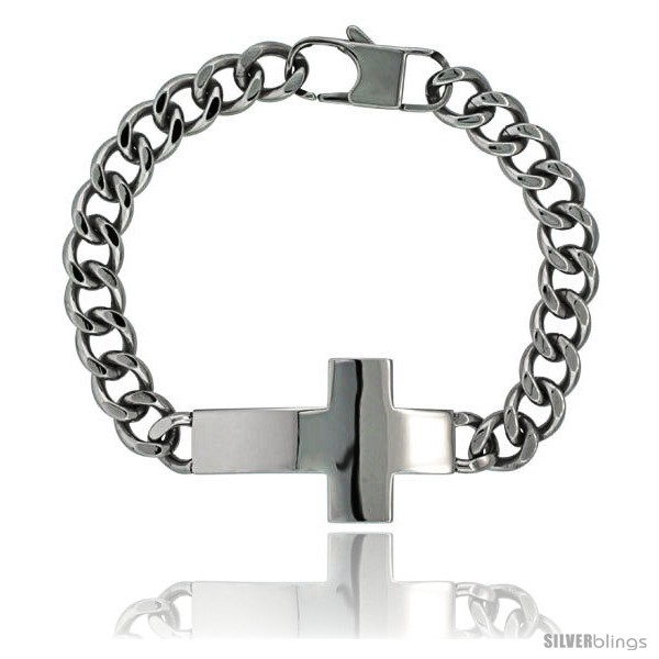 https://www.silverblings.com/922-thickbox_default/surgical-steel-sideways-cross-bracelet-1-in-wide-8-5-in-long.jpg
