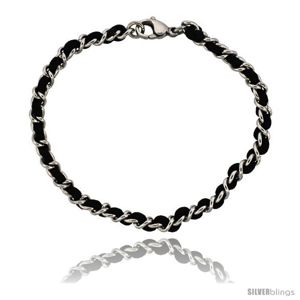 https://www.silverblings.com/926-thickbox_default/stainless-steel-black-satin-cord-link-bracelet-3-16-in-wide-7-1-4-in-long.jpg
