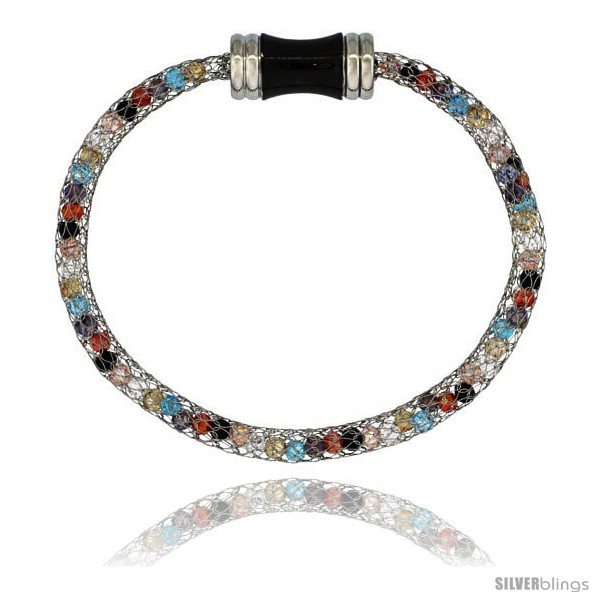 https://www.silverblings.com/942-thickbox_default/stainless-steel-multi-color-crystal-cage-bracelet-magnetic-clasp-7-5-in-long.jpg