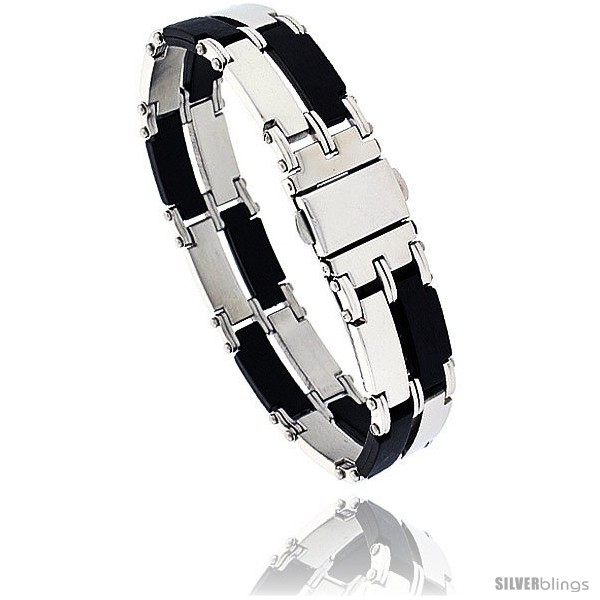 https://www.silverblings.com/950-thickbox_default/stainless-steel-rubber-rectangular-link-bracelet-2-row-8-in-long.jpg