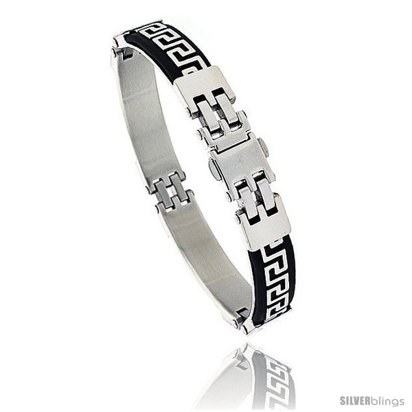 https://www.silverblings.com/952-thickbox_default/stainless-steel-and-rubber-greek-key-bracelet-8-in-long.jpg