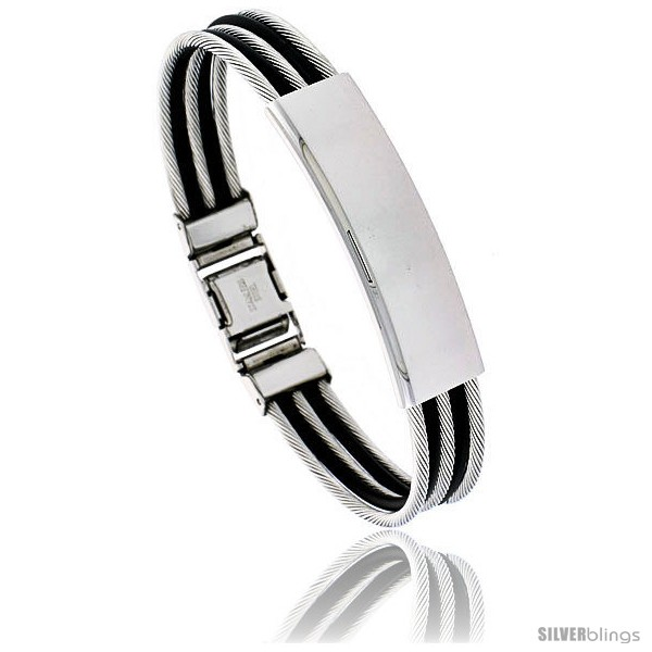 https://www.silverblings.com/954-thickbox_default/solid-stainless-steel-cable-and-rubber-bracelet-8-in-long.jpg