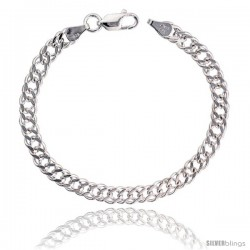 Sterling Silver Rombo Double Link Chain Necklaces & Bracelets Nickel Free 6mm wide