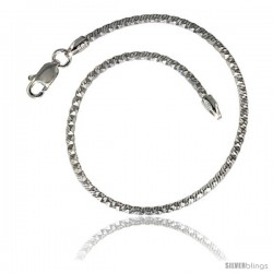 Sterling Silver Snake Chain Necklaces & Bracelets Cross Cut Pattern Diamond Cuts, 2mm thick