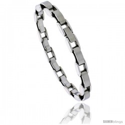 Stainless Steel Ladies Fancy Link Bracelet, 7.5 in