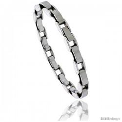 Stainless Steel Ladies Fancy Link Bracelet, 7.5 in