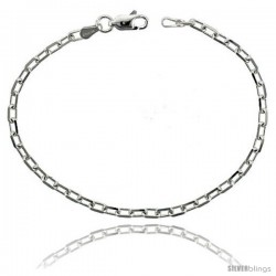 Sterling Silver Italian Diamond Cut Cable Chain Necklaces & Bracelets Nickel Free, 1/8 in wide