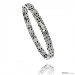 Stainless Steel Ladies Bar Link Bracelet, 7.5 in