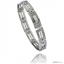 Stainless Steel Men's Bar Bracelet, 8 in long