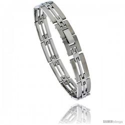 Stainless Steel Men's Bar Bracelet, 8 in long