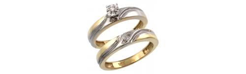 10k Yellow Gold 2-Piece Ladies' Rings