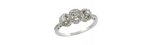 14k White Gold Ladies' Rings