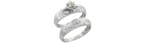 2-Piece Ladies' Diamond Ring Sets