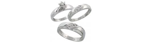 Trio Diamond Ring Sets