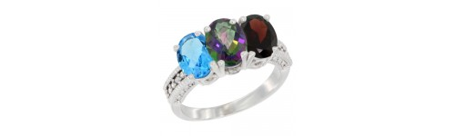 3-Stone Mystic Topaz Rings
