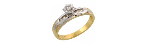 14k Yellow Gold Diamond Jewelry